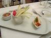 Un piatto ben presentato del ristorante, peccato fossero solo due verdure crude in croc
