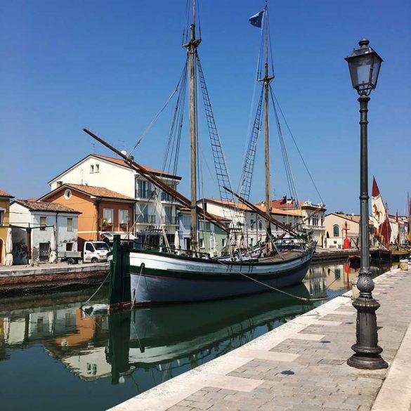 vista porto canale di Cervia
