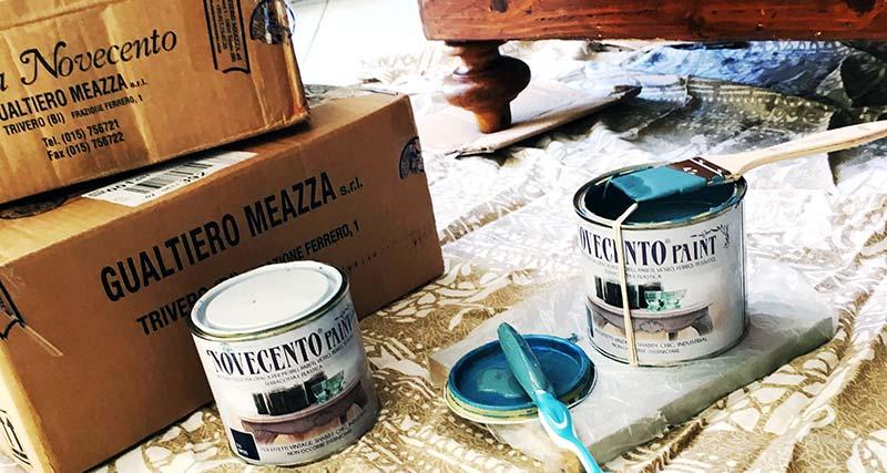 barattolo Novecento Paint e confezioni di barattoli con pennello apposito