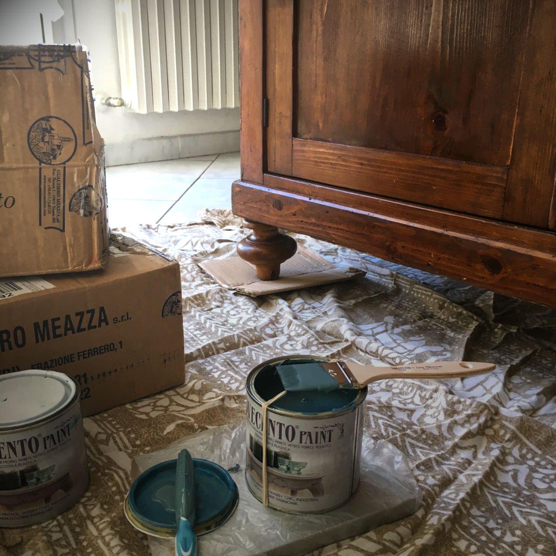 Pittura credenza isola cucina Novecento Paint