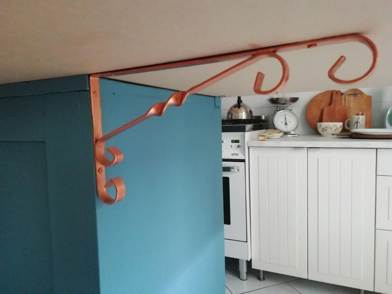 staffe isola cucina credenza Novecento Paint rame