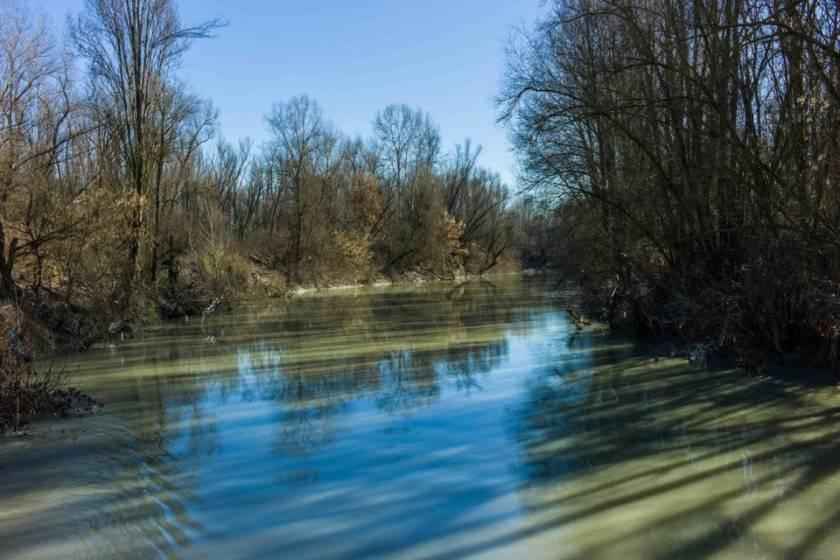 Ciclovia del Sole: paesaggio fiume Panaro