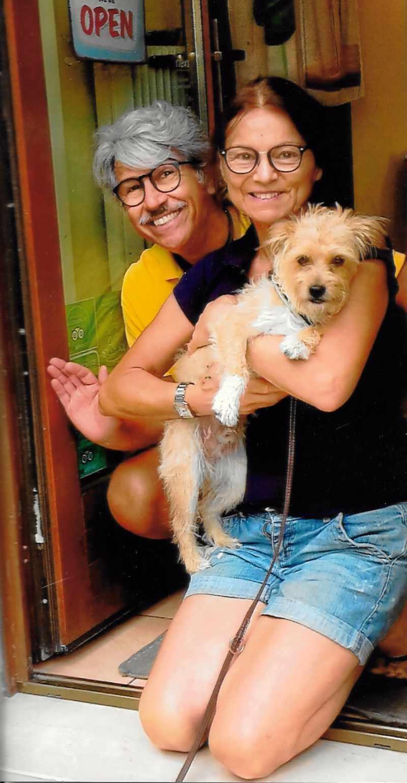Titti e Seb con Tony, un piccolo ospite della Casota